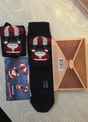 Новогодние рождественские носки в подарочной упаковке коробке ...
