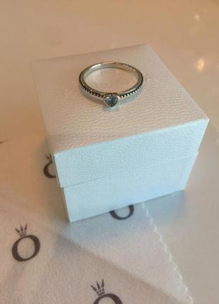 Кольцо сердце с камнем пандора серебро проба 925