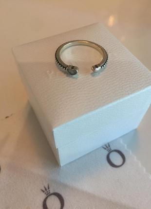 Кольцо два сердца пандора серебро проба 925