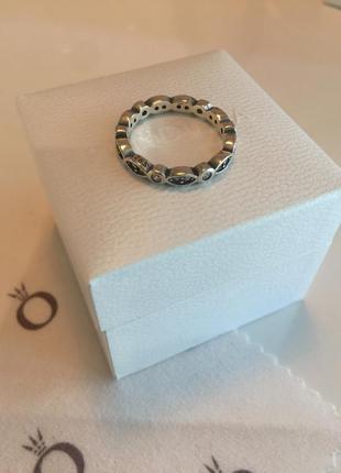 Кольцо пандора с узором серебро проба 925