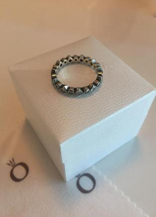 Кольцо пандора узор серебро проба 925