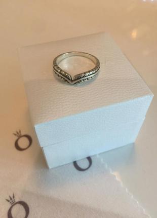 Кольцо перышко пандора серебро проба 925