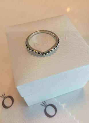 Кольцо волна пандора серебро проба 925