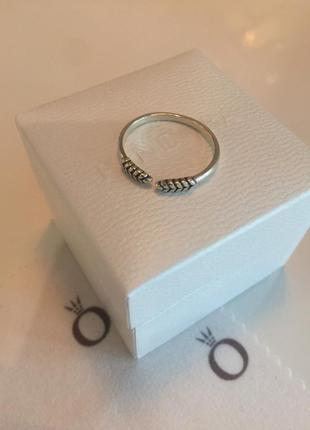 Кольцо пандора колоски серебро проба 925