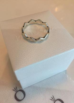 Кольцо зигзаг пандора серебро проба 925