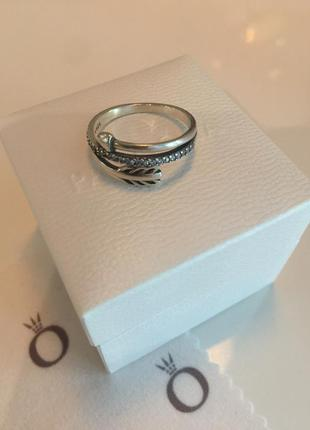 Кольцо стрела пандора серебро проба 925