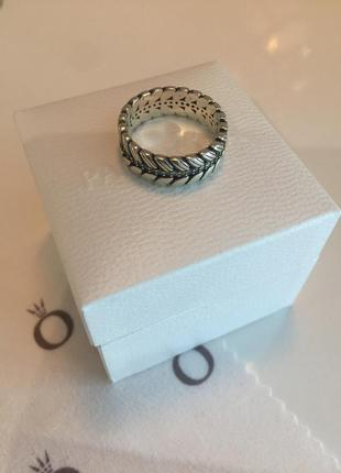 Кольцо колоски пандора серебро проба 925