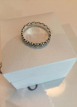 Кольцо цветы пандора серебро проба 925