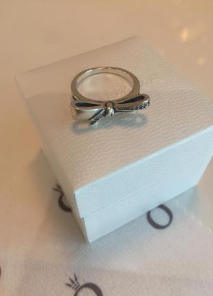 Кольцо бантик пандора серебро проба 925