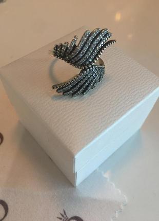 Кольцо светящиеся крылья пандора серебро проба 925