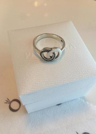 Кольцо два кольца пандора серебро проба 925