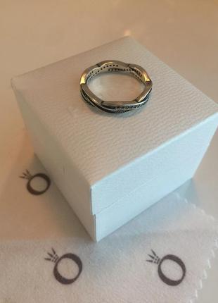 Кольцо бесконечность пандора серебро проба 925
