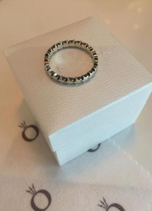 Кольцо звезды пандора серебро проба 925
