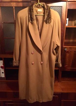 Стильное женское пальто Da Vanti. Красивый песочный цвет. Наш 48