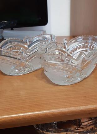 Хрустальная салатница конфетница ваза