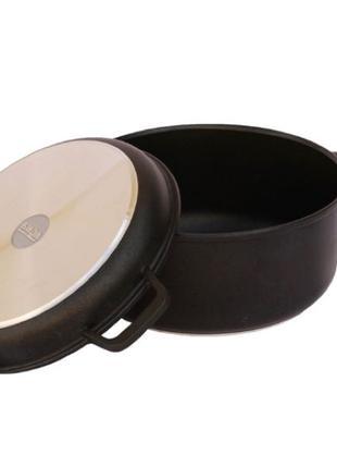 Кастрюля 7 л. с крышкой сковородой антипригарная Биол.