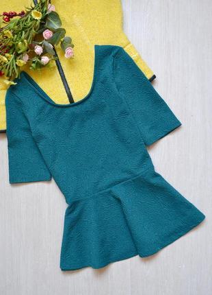 Блузка с баской на худышку tally weijl