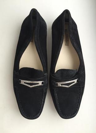 Кожаные мокасины geox замшевые р.37-37,5 туфли балетки