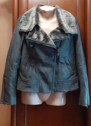 Дубленка косуха куртка f&f батал большого размера авиатор