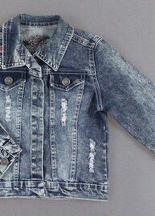 Джинсовая куртка для девочки турция