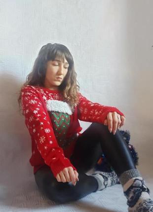 """Фирменный primark с биркой свитер/кофта в нг тему """" праздничны..."""