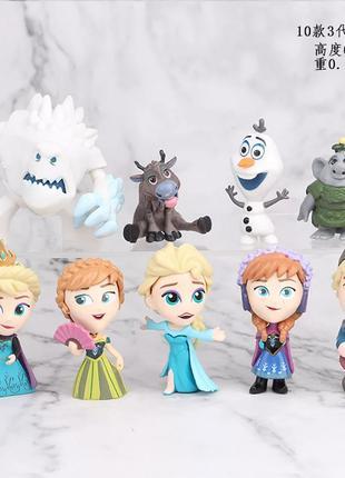 Набор игрушек Холодное сердце Frozen (10 шт), новые