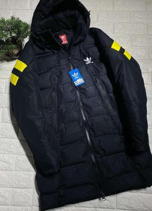 Мужская зимняя удлиненная куртка adidas