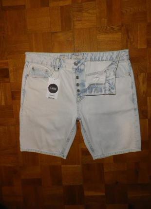 Шорты джинсовые TOPMAN (slim fit) W32