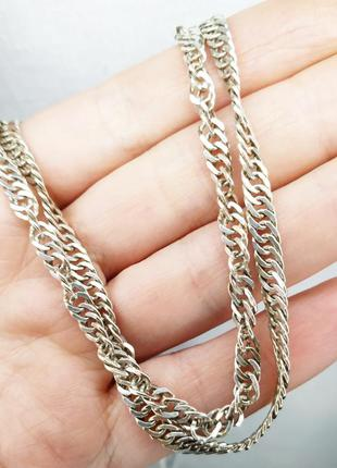 Серебряная цепь 65 см сингапур