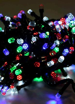 Светодиодная LED гирлянда для ёлки Хрусталь 9м.