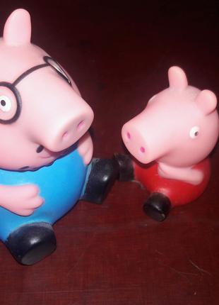 Свинка свин игрушка поросёнок Пеппа pig Peppa резиновая