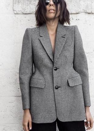 Пиджак жакет пальто в гусиную лапку в стиле balenciaga