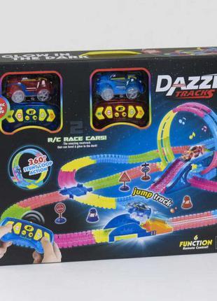 Светящийся трек, трасса 2 машинки на пульте управления Twister...