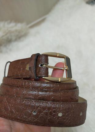 Новый кожаный ремень с тиснением