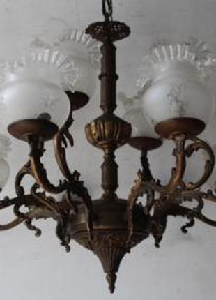 №224 люстра двохярусна з плафонами 12 лампочок, Італія