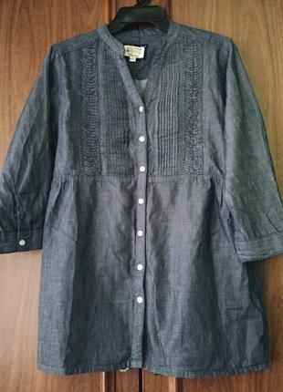 Блуза рубашка под джинс bare denim 100% cotton индия