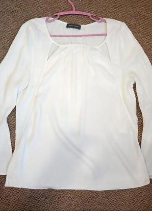Блуза свободного кроя с рукавами-воланами mint velvet