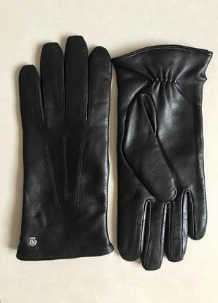 Перчатки кожаные утеплённые дорогой бренд roeckl размер m/l или 8