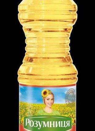 Масло подсолнечное Розумниця Олейна 0.82л