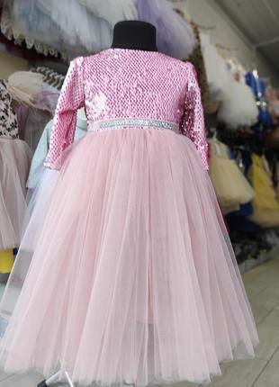 Нарядное платье с пайеткой