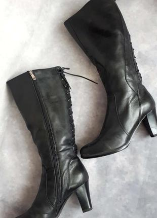 Кожаные сапоги на широкую голень alessio nesca