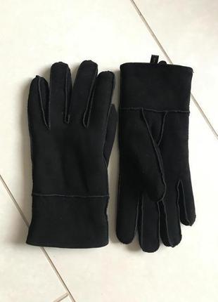 Перчатки кожаные зимние утеплённые женские opus размер m/l