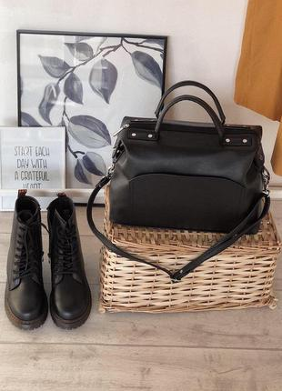 Женская вместительная сумка саквояж тренд