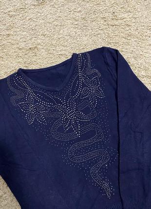 Новый свитер со стразами 😍 42 размер