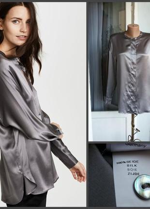 Шелковая рубашка nadine h италия 100% шелк