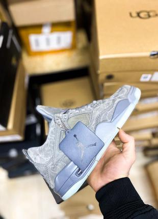 "Nike air jordan 4 retro kaws""grey""    кроссовки   мужские"