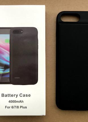 Чехол-аккумулятор (зарядка) для iPhone 6/6s/7/8+ на 4000 mAh
