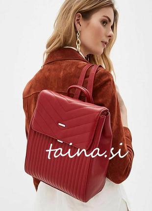 Классический женский красный стеганый рюкзак david jones 6158-...