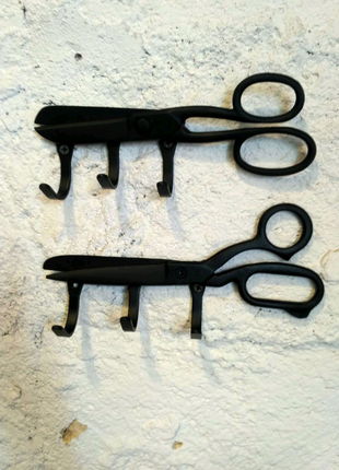 Вешалка ножницы в стиле лофт для баобершопа салона красоты