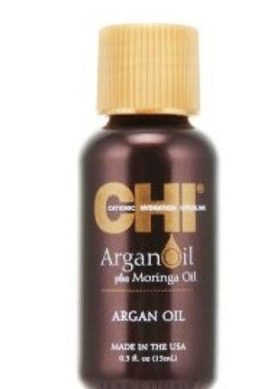 Восстанавливающее масло для волос chi argan oil plus moringa o...
